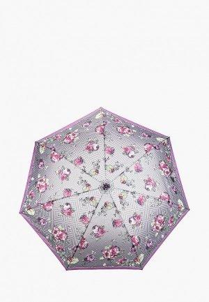 Зонт складной Fabretti. Цвет: фиолетовый