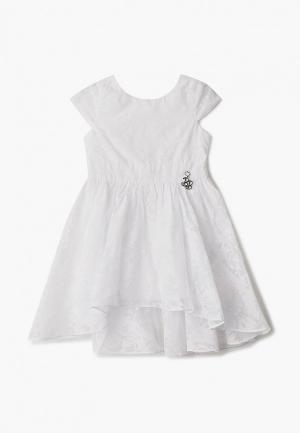 Платье Button Blue. Цвет: белый