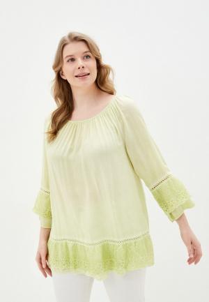 Блуза Ulla Popken. Цвет: желтый