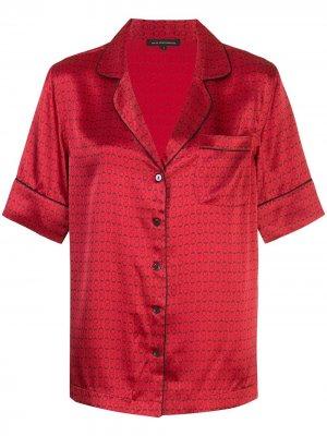 Пижама с принтом Kiki de Montparnasse. Цвет: красный