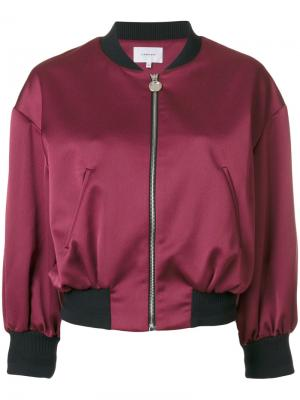 Укороченная куртка-бомбер Carven. Цвет: розовый