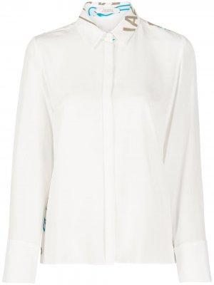 Рубашка с длинными рукавами и принтом на спине Dorothee Schumacher. Цвет: белый