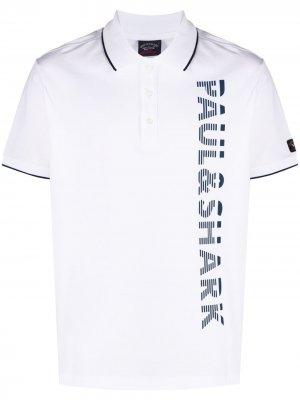 Рубашка поло с логотипом Paul & Shark. Цвет: белый