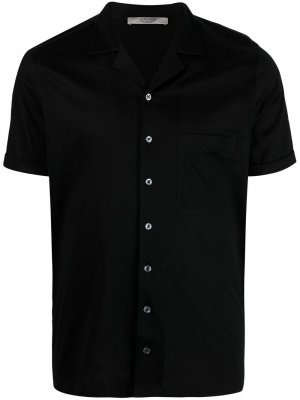 La Fileria For Daniello рубашка с короткими рукавами и заостренным воротником D'aniello. Цвет: черный
