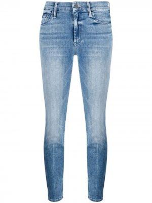 Укороченные джинсы скинни  Locker MOTHER. Цвет: синий