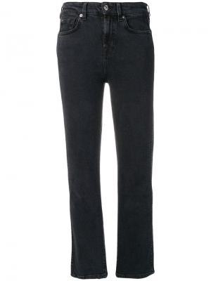 Cropped jeans 7 For All Mankind. Цвет: черный