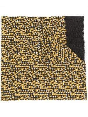 Шарф с бахромой и узором шеврон Altea. Цвет: желтый
