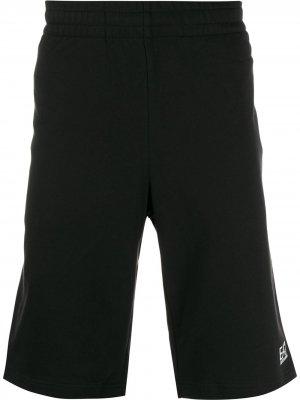 Спортивные шорты с логотипом Ea7 Emporio Armani. Цвет: черный