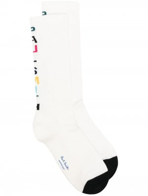 Носки с логотипом PAUL SMITH. Цвет: белый