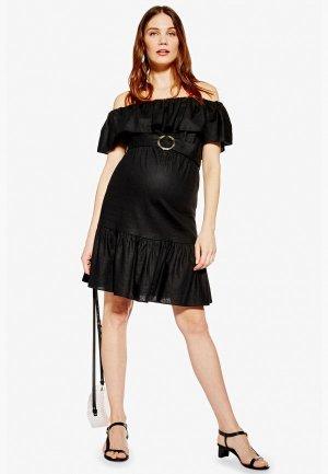Платье Topshop Maternity. Цвет: черный