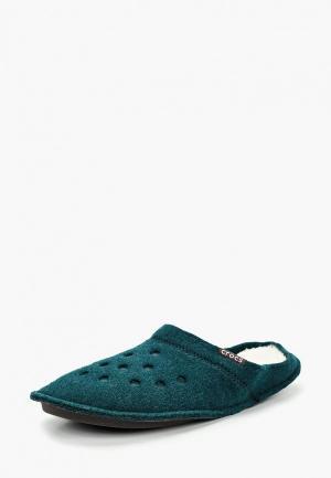 Тапочки Crocs. Цвет: зеленый