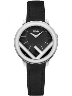 Часы с логотипом F Fendi. Цвет: черный