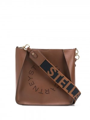 Сумка на плечо Stella Logo McCartney. Цвет: коричневый