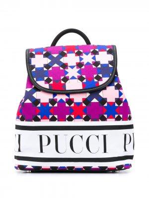 Рюкзак с принтом Emilio Pucci Junior. Цвет: фиолетовый