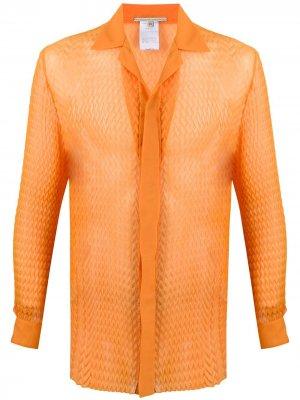 Фактурная рубашка с 3D-эффектом Marco De Vincenzo. Цвет: оранжевый