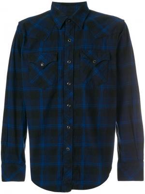 Рубашка в стиле western Engineered Garments. Цвет: синий