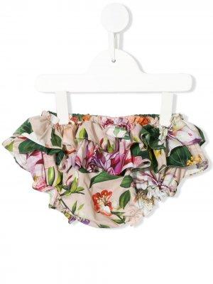 Блумеры с цветочным принтом и оборками Dolce & Gabbana Kids. Цвет: разноцветный
