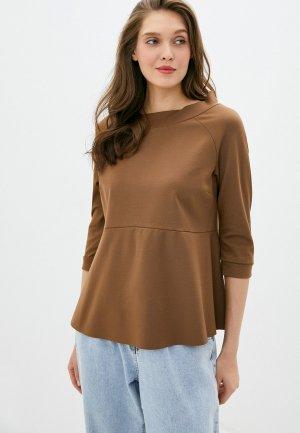 Блуза Imperial. Цвет: коричневый