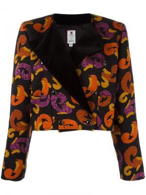 Жаккардовый укороченный пиджак Emanuel Ungaro Pre-Owned. Цвет: разноцветный