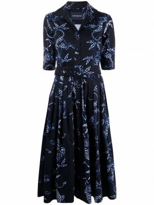 Платье-рубашка Audrey с графичным принтом Samantha Sung. Цвет: синий