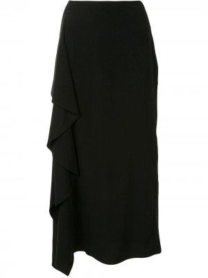 Юбка с драпировкой Yohji Yamamoto. Цвет: черный