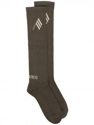 Жаккардовые носки Sponge с логотипом The Attico. Цвет: 201 militaresahara