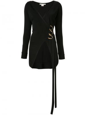 Блузка с V-образным вырезом запахом Antonio Berardi. Цвет: чёрный
