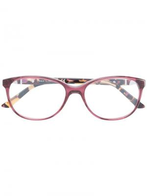 Очки в круглой оправе Swarovski Eyewear. Цвет: розовый