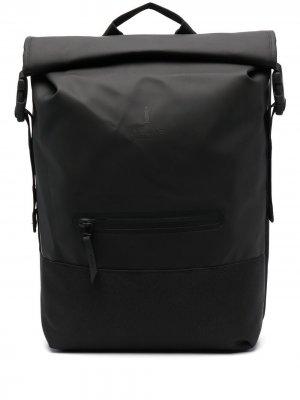 Рюкзак с откидным клапаном Rains. Цвет: черный