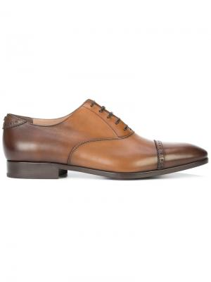 Туфли Boston на шнуровке Salvatore Ferragamo. Цвет: коричневый