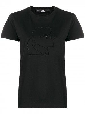 Футболка Karl Profile Lagerfeld. Цвет: черный