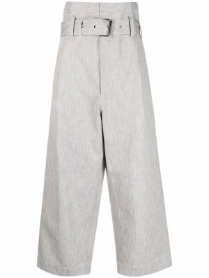 Укороченные брюки с завышенной талией Plan C. Цвет: серый
