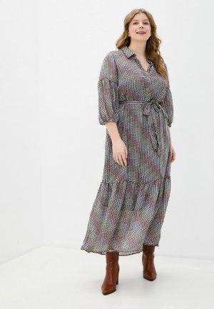 Платье Vero Moda Curve. Цвет: разноцветный