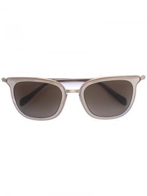 Солнцезащитные очки Annetta Oliver Peoples. Цвет: серый