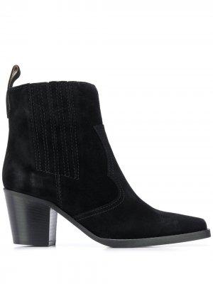 Ботинки на массивном каблуке GANNI. Цвет: черный