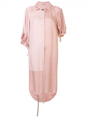 Платье-рубашка длины миди Ann Demeulemeester. Цвет: розовый