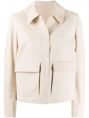 Куртка на кнопках Yves Salomon. Цвет: нейтральные цвета