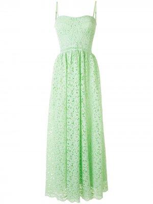 Длинное платье с вышивкой Jonathan Simkhai. Цвет: зеленый