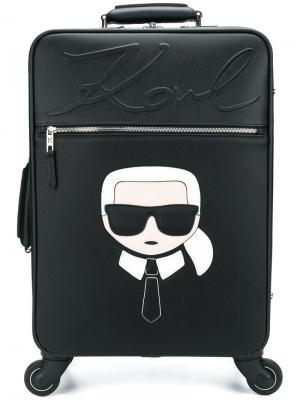 Чемодан Karl Lagerfeld. Цвет: черный