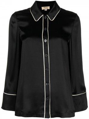 Пижамная рубашка Elpis на пуговицах Temperley London. Цвет: черный