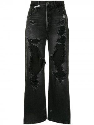 Широкие джинсы с завышенной талией Maison Mihara Yasuhiro. Цвет: черный