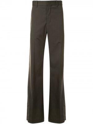 Строгие брюки прямого кроя Wooyoungmi. Цвет: зеленый