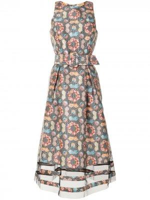 Платье миди Rani с принтом Kaleidoscope Sachin & Babi. Цвет: черный