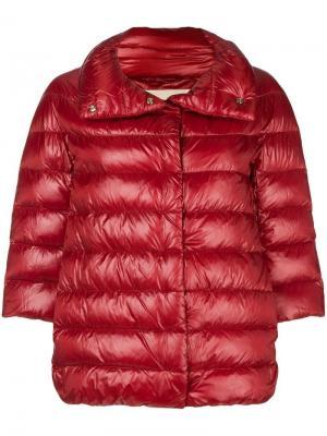 Feather down puffer jacket Herno. Цвет: красный
