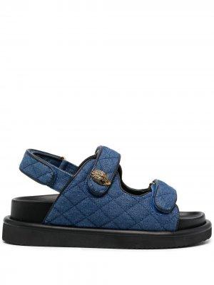 Стеганые джинсовые сандалии Orson Kurt Geiger London. Цвет: синий