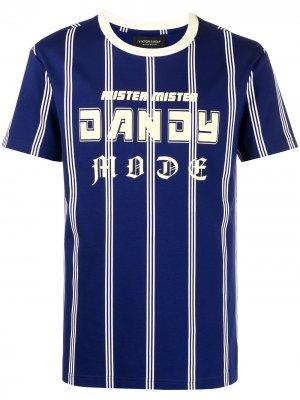 Футболка Dandy Mode в полоску Viktor & Rolf. Цвет: синий