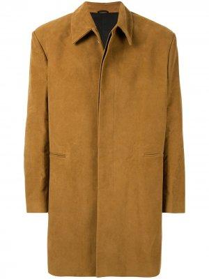 Пальто с нашивкой Raf Simons. Цвет: коричневый