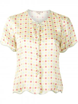 Пижамная рубашка Beatrice Morgan Lane. Цвет: желтый
