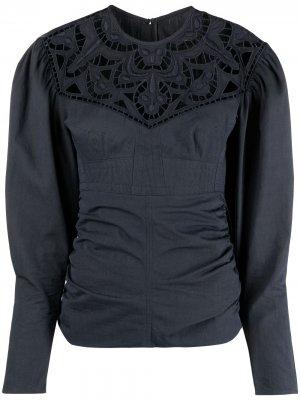Блузка с кружевной вставкой Isabel Marant. Цвет: серый