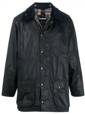Куртка Beaufort на кнопках Barbour. Цвет: синий